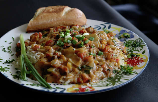 Crawfish etouffee presented by Lenny's BBQ on Wednesday, Dec. 5, 2012. Photo: Kin Man Hui, San Antonio Express-News / ©2012 San Antonio Express-News