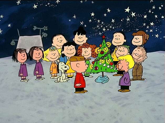 "The Peanuts gang gathers around the tree after realizing  the true meaning of the holiday in ""A Charlie Brown Christmas."" Photo: Cbs 1965"