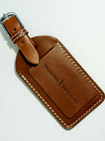 For the Traveler: A Leather Luggage Tag