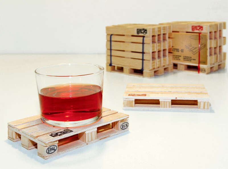 For the Stain-Averse: Pallet Coasters