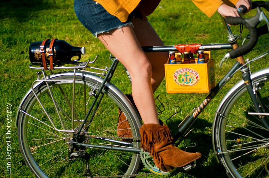 For the Cyclist: Bike Beer Holder