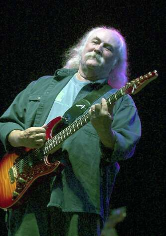 David Crosby, of Crosby, Stills and Nash, performs May 3, 2003 during the Music Midtown concert in Atlanta, Georgia. Crosby was arrested on marijuana and guns possession charges March 6, 2004 in New York City. Photo: Steve Schaefer, Getty Images / 2003 Getty Images