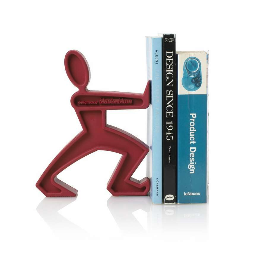 For the Bookish: James the BookendBetter-looking and slightly more personable than the standard library bookend, from UK designers Daniel Black and Martin Blum.