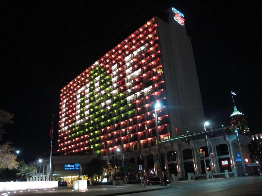 The Hilton Palacio del Rio's holiday message.