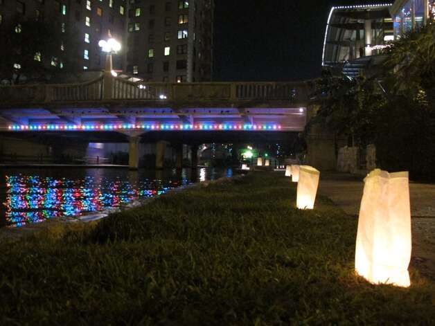 Luminarias line the River Walk this time of the year.