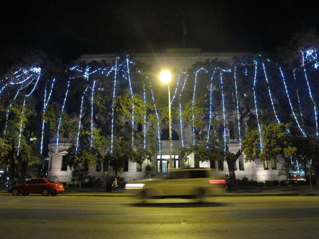 Even City Hall received some of last year's LED lights.