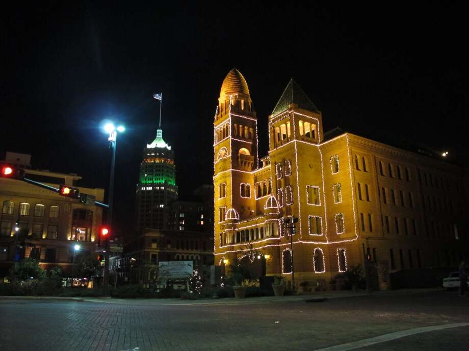 The Bexar County Courthouse is done in a more classical style.