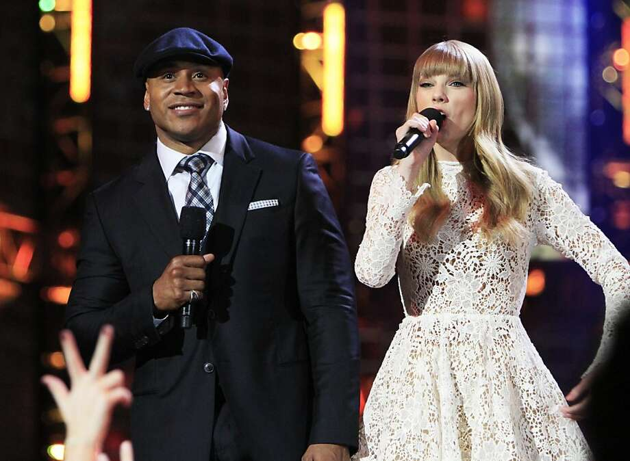 LL Cool J and Taylor Swift host the Grammy nomination concert in Nashville. There are no knockout front-runners this year. Photo: Wade Payne, Wade Payne/Invision/AP