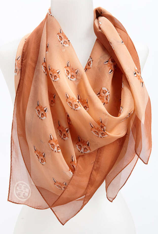 A Silk ScarfFor when it's not as chilly out.  Tory Burch foxy silk chiffon scarf ($165) nordstrom.com Photo: Contributed Photo