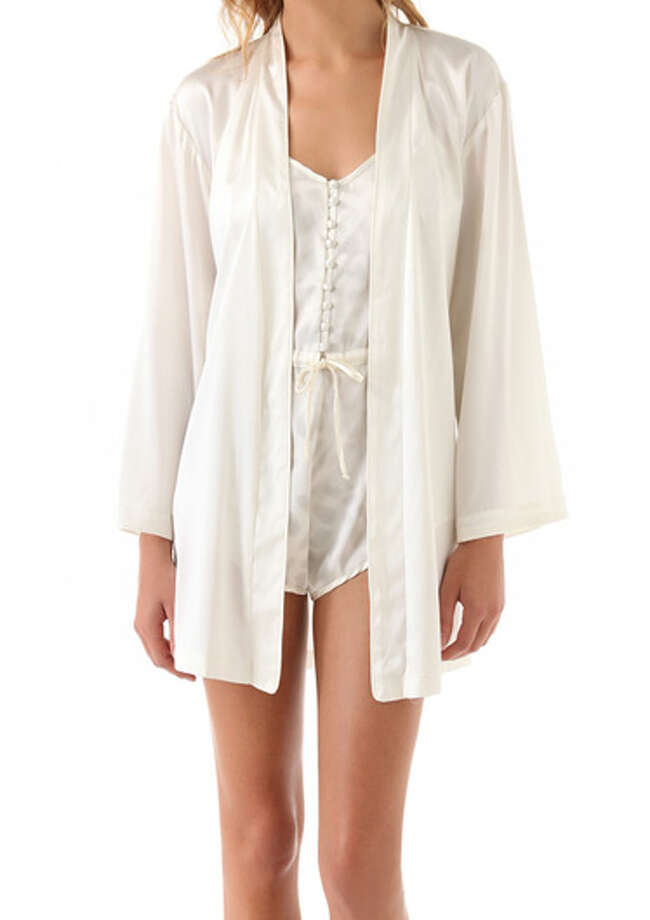 A RobeIn forever-sexy and chic white silk.