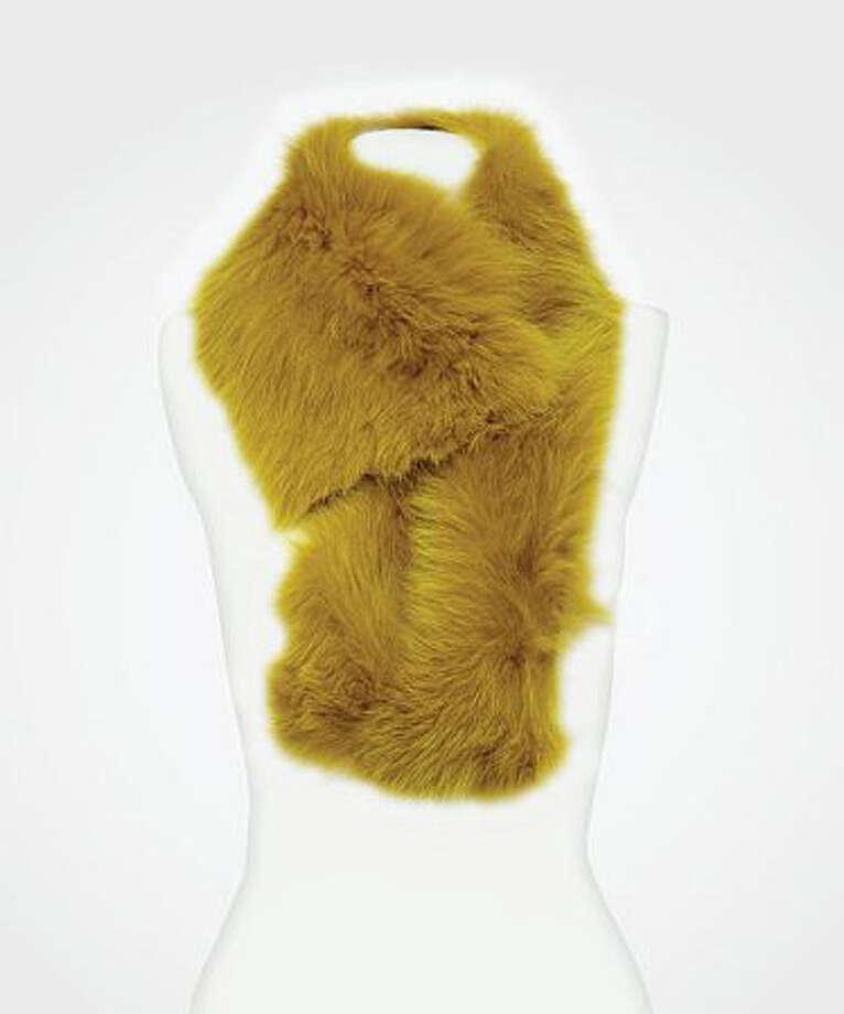 Some FurTo heat her up.  Diane Von Furstenberg fox fur collar ($495) dvf.com Photo: Contributed Photo