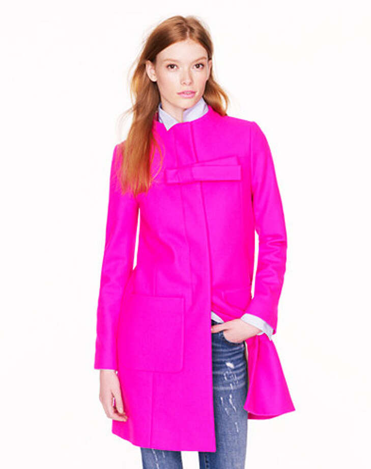 A CoatWith a bow, of course.  Bow coat ($365) jcrew.com Photo: Contributed Photo