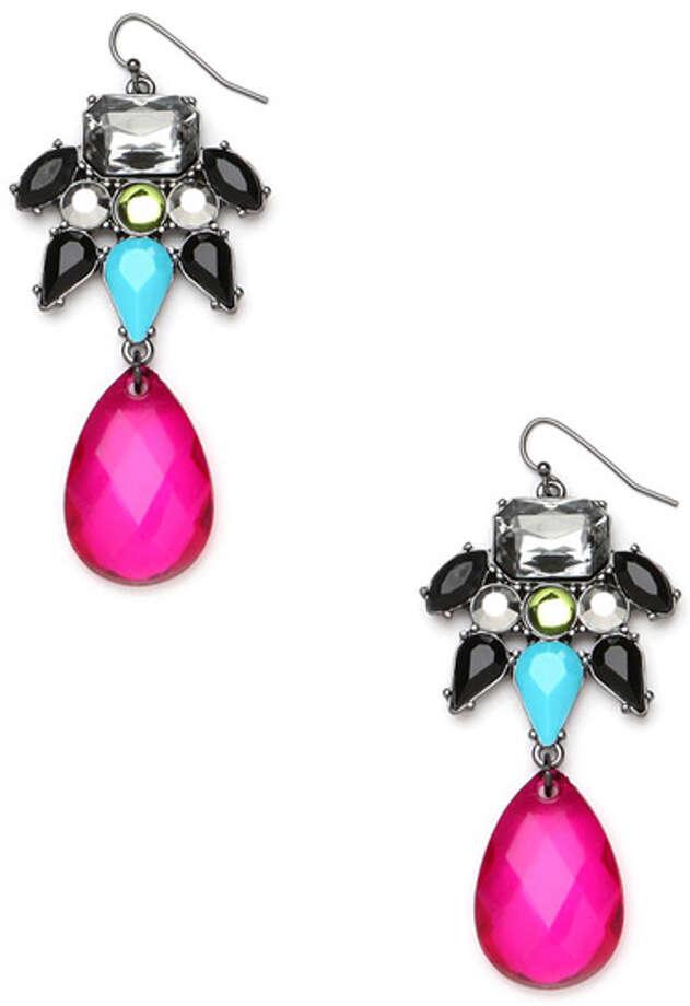 A Pair of EarringsLike these flirty teardrops.  Bauble Bar Cyndi drops earrings ($28) baublebar.com Photo: Contributed Photo