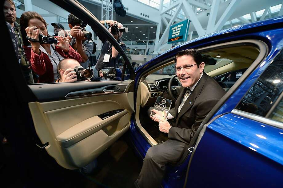David Mondragon, general manager of U.S. marketing for Ford, sits in a 2013 Fusion last month in L.A. Photo: Kevork Djansezian, Getty Images