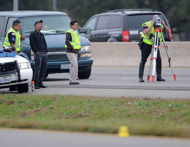 Beaumont Police are investigating a possible hit and run that occurred on U.S. 69 north of the LNVA canal sometime before 6:30 a.m. Thursday. The victim is said by police to be a 23-year-old man. Photo taken Thursday, December 06, 2012 Guiseppe Barranco/The Enterprise Photo: Guiseppe Barranco, STAFF PHOTOGRAPHER / The Beaumont Enterprise