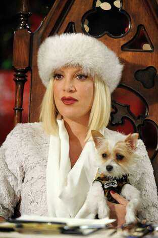 "Tori Spelling plays the mean-spirited head of the Snow Belles choral group in ""The Mistle-Tones"" on Disney. Photo: Fred Hayes, DISNEY CHANNEL / © 2012 Disney Enterprises, Inc. All rights reserved."
