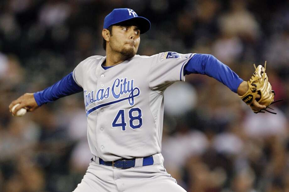Joakim Soria Signed by the Los Angeles Dodgers as an amateur free agent in 2001, Soria was released by the team in 2004. In 2005, he signed with the San Diego Padres and was drafted by the Kansas City Royals in the 2006 Rule 5 draft. While in KC, the reliever was a two-time All-Star. On Tuesday, he signed a two-year, $8 million contract with the Texas Rangers.   (Joe Nicholson / Associated Press)