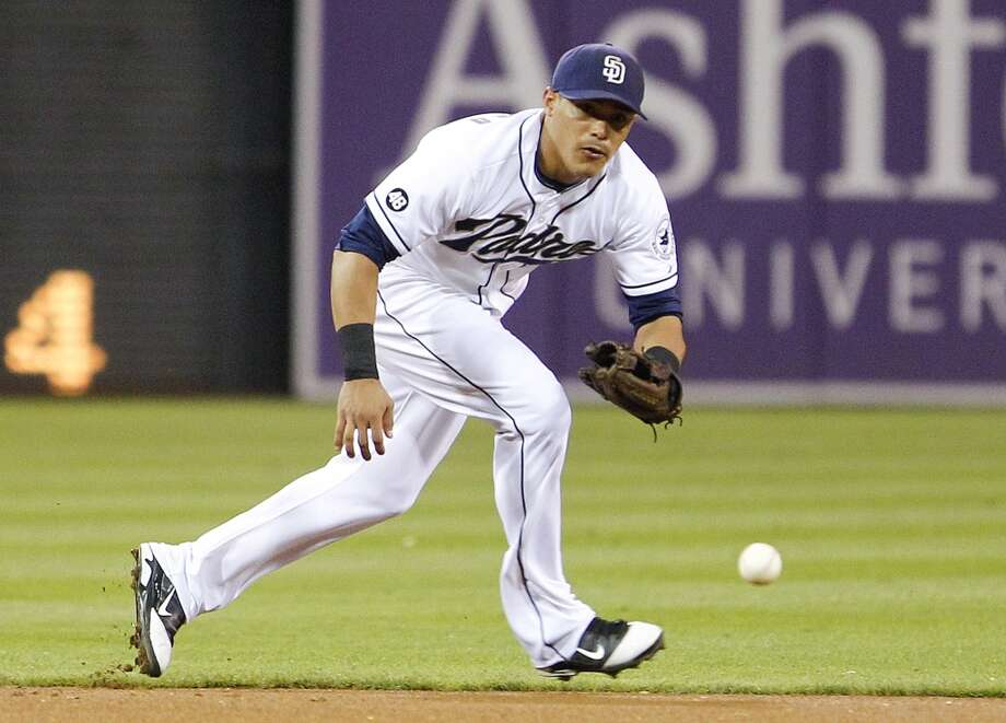 Everth CabreraSigned by the Colorado Rockies as a free agent in 2004, Cabrera was drafted by the San Diego Padres in the 2008 Rule 5 draft. The speedy infielder led the NL in stolen bases in 2012.  (Lenny Ignelzi / Associated Press)