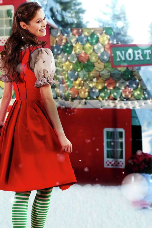 "Summer Glau elf Christine, who loves Christmas but longs to see more of life beyond the North Pole in the Hallmark Channel movie, ""Help for the Holidays."" Photo: Hallmark Channel"