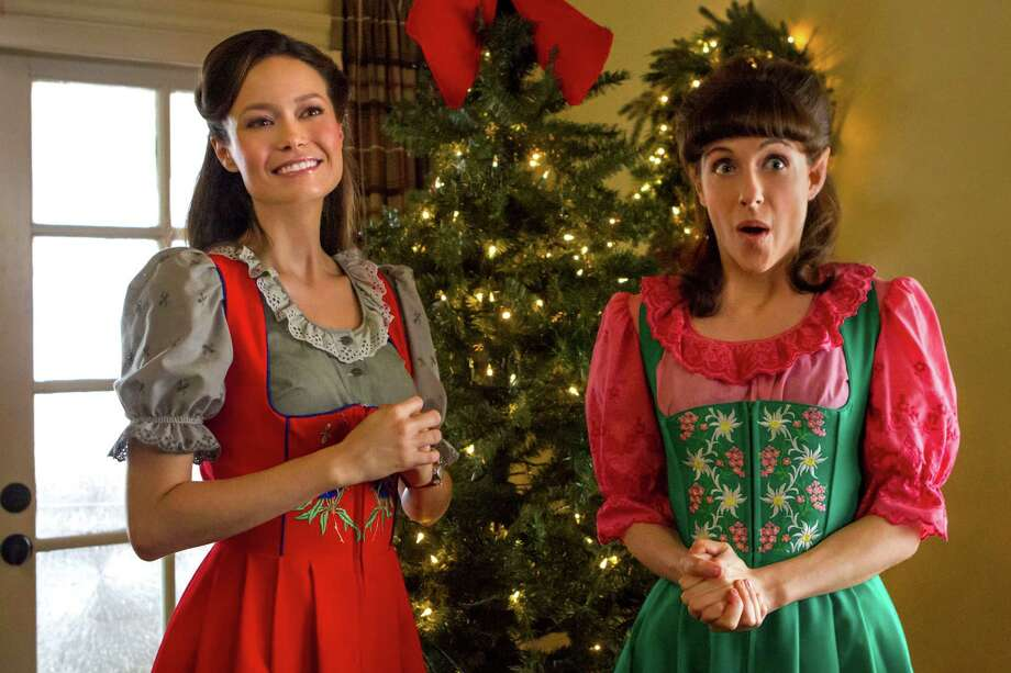 "Summer Glau and Jessie Wiener play Christmas elves who spend their days making toys for Santa in ""Help for the Holidays."" Photo: CARIN BAER, Hallmark Channel / @2010"