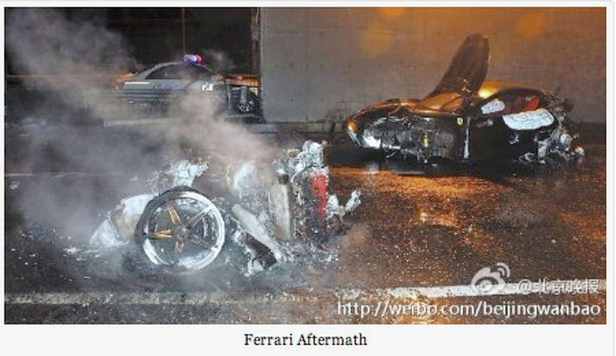 A picture that circulated online showed the wreckage of a Ferrari driven by the son of Ling Jihua, 23, a top presidential aide. He died in the crash, which eventually was covered up and caused a political scandal.