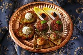 Turkish appetizers as seen in San Francisco, California, on Wednesday, November 28, 2012. Food styled by Lynne Char Bennett.