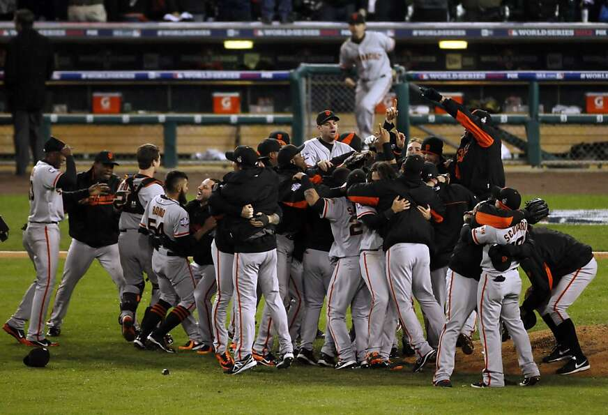 Most of the Giants celebrating their World Series victory in Detroit in October will be going to the