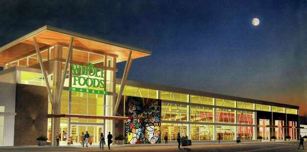 This is an architect's rendering of Whole Foods in The Shops at Marcus Dairy, in Danbury Friday, Feb. 17, 2012. Panera Bread is the first retail store that is ready to open its doors next week at the Shops at Marcus Dairy. Photo: Michael Duffy