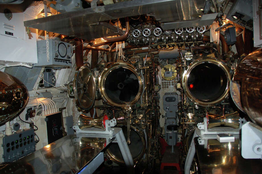 The forward torpedo room is the first visitors see; the sub has 10 torpedo tubes and could carry a total of 24 torpedoes. (Jeanne Cooper / SFGate)