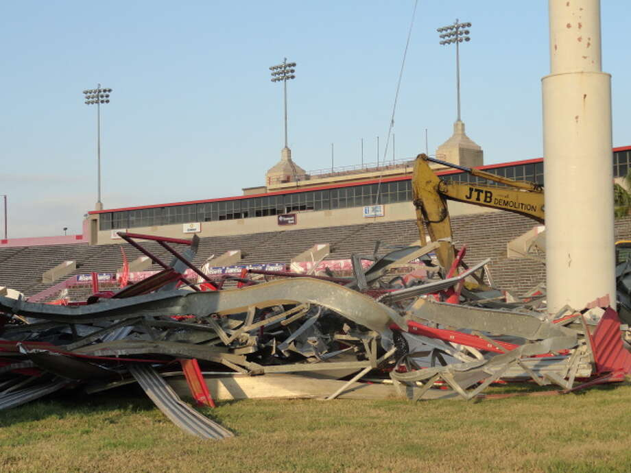 Stadium demolition is projected to last approximately six to eight weeks. (Joseph Duarte / Chronicle)