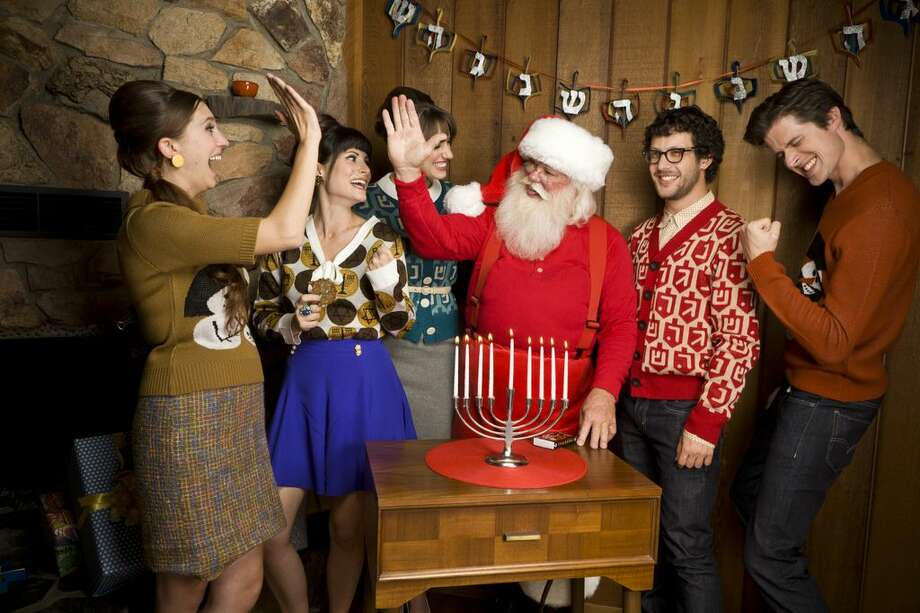 It's Hanukkah for the ugly Christmas sweater crowd. Check out all these festive joys before the holiday starts Saturday at sundown.  Photo: Geltfiend