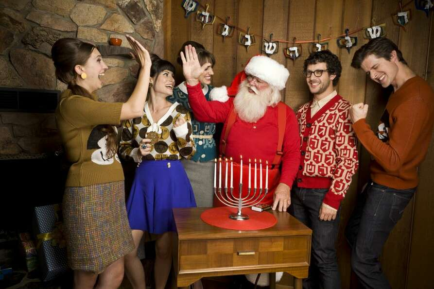 It's Hanukkah for the ugly Christmas sweater crowd. Check out all these festive joys before the holi