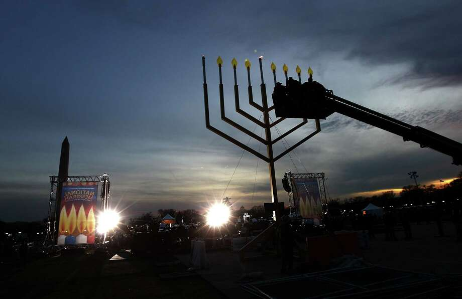 How about the world's biggest Menorah? That would be a cool gift.  Photo: Win McNamee, Getty / 2011 Getty Images