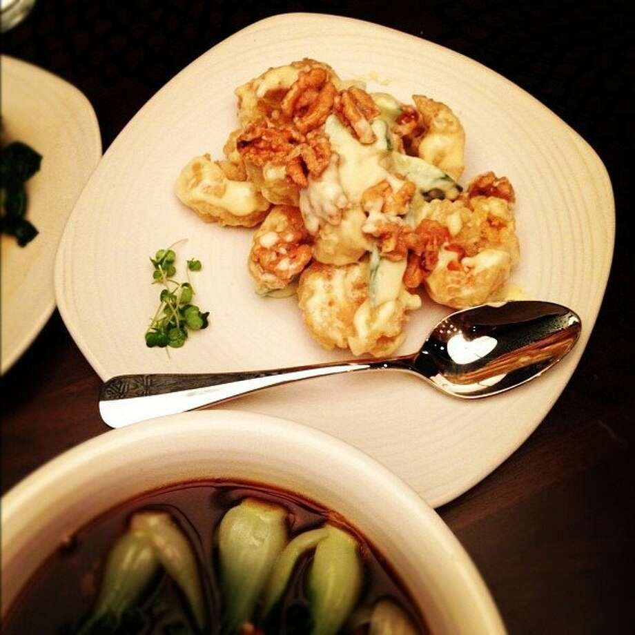 M.Y. China offers a menu of hand-pulled noodles and other dishes such as honey walnut shrimp. Photo: M.Y. China