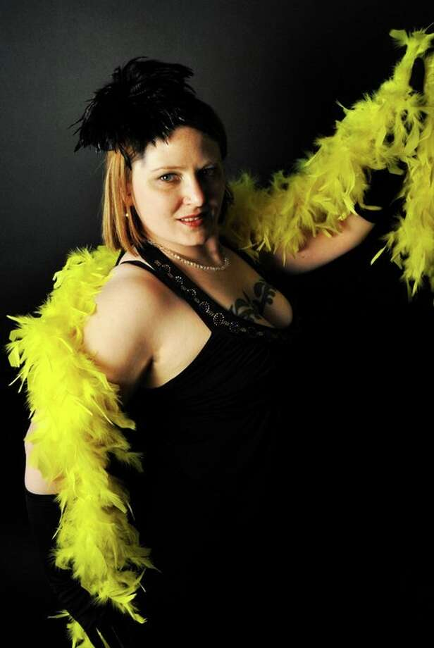 Marie ReMoan of the Foxy Trot burlesque show.