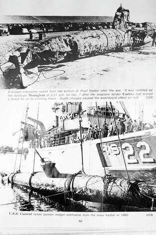 Midget submarines from the Japanese fleet recovered after the attack on Pearl Harbor. Photos by the US Navy.  Richard Cunningham was a 20-year-old chief boatswainÕs mate stationed on the USS West Virginia when he survived the attack on Pearl Harbor on December 7, 1941. Cunningham, now 91, is photographed at his home in Hewitt, Texas on December 4, 2012. Photo: Julia Robinson / © Julia Robinson Photo