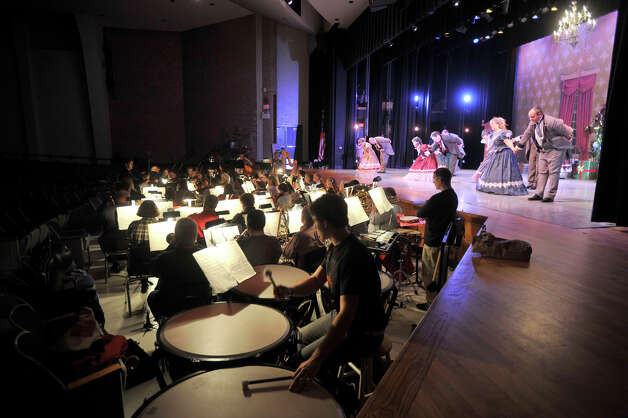 "The Danbury Symphony Orchestra performs during the dress rehearsal of the Danbury Music Centre's production of ""The Nutcracker Ballet"" at Danbury High School on Thursday, Dec. 6, 2012. Photo: Jason Rearick / The News-Times"