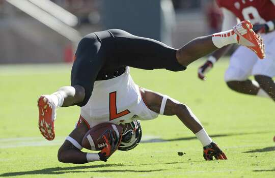 Oregon State wide receiver Brandin Cooks (7) against Stanford during the first half of an NCAA college football game in Stanford, Calif., Saturday, Nov. 10, 2012. (AP Photo/Jeff Chiu) Photo: Jeff Chiu, Associated Press / AP