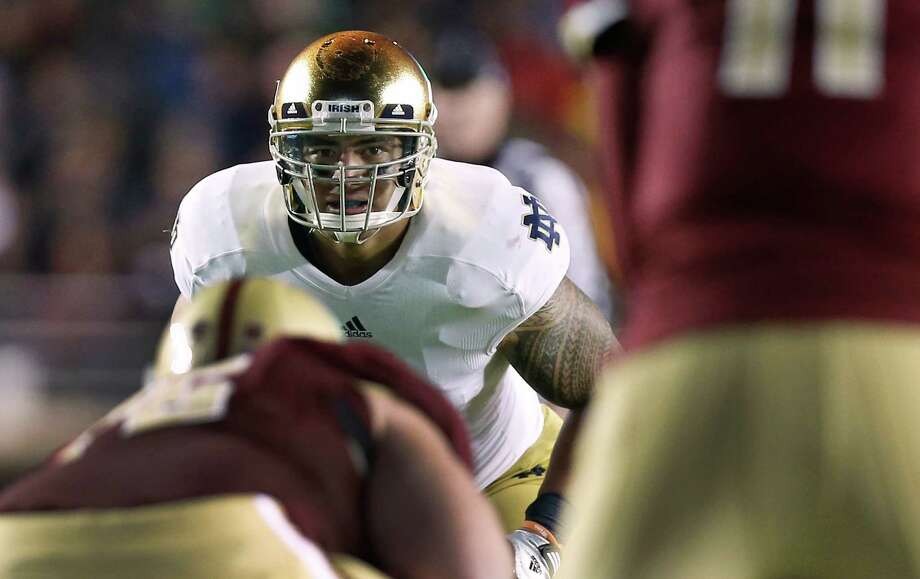 Manti Te'o says a national title would trump a Heisman Trophy. Photo: Winslow Townson, FRE / FR170221 AP