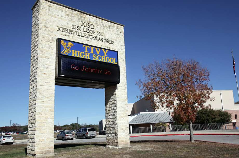 "Tivy High School in Kerrville, Tx, where Heisman Trophy candidate Johnny Manziel attended and received the nickname ""Johnny Football"". Wednesday, Dec. 5, 2012. Photo: Bob Owen, San Antonio Express-News / © 2012 San Antonio Express-News"