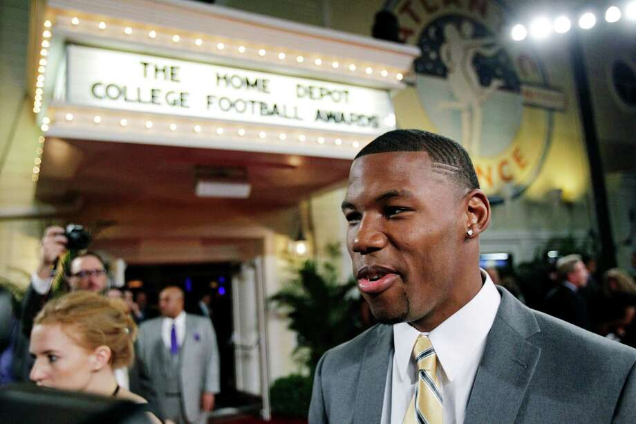 Baylor wide receiver Terrance Williams arrives at the Home Depot College Football Awards in Lake Buena Vista, Fla., Thursday, Dec. 6, 2012. (AP Photo/John Raoux) Photo: John Raoux, Associated Press / AP
