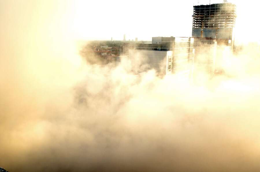 Implosion of the West Pavilion Professional Building in the Texas Medical Center, June 25, 2006.  (J
