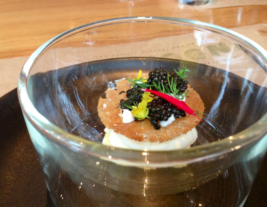 Lemon cream and caviar at Cotogna