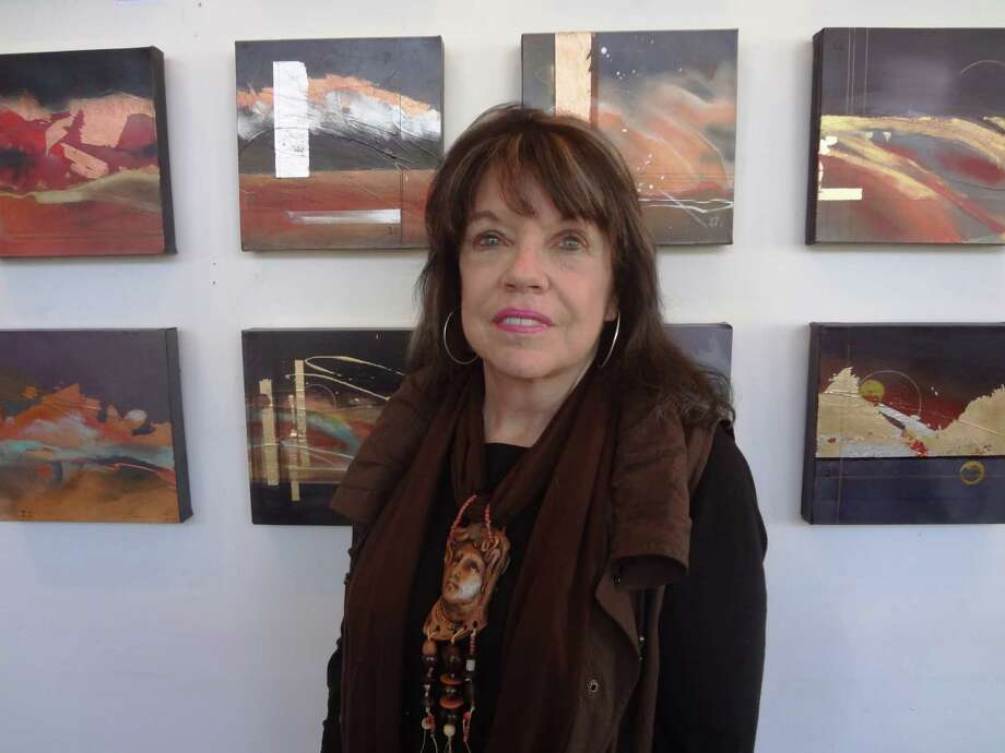 "San Antonio artist Lyn Belisle's exhibition, ""30 Shades of Twilight,"" is her first abstract art show. Photo: Steve Bennett, San Antonio Express-News"