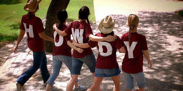 """Howdy! """"Howdy"""" is the official greeting of Texas A&M University. It is an Aggie's way of ensuring that no one feels like a stranger. The exact origin of this tradition is not known. (Source; Texas A&M) Photo Credit: Flickr Creative Commons/Texas A&M University"""