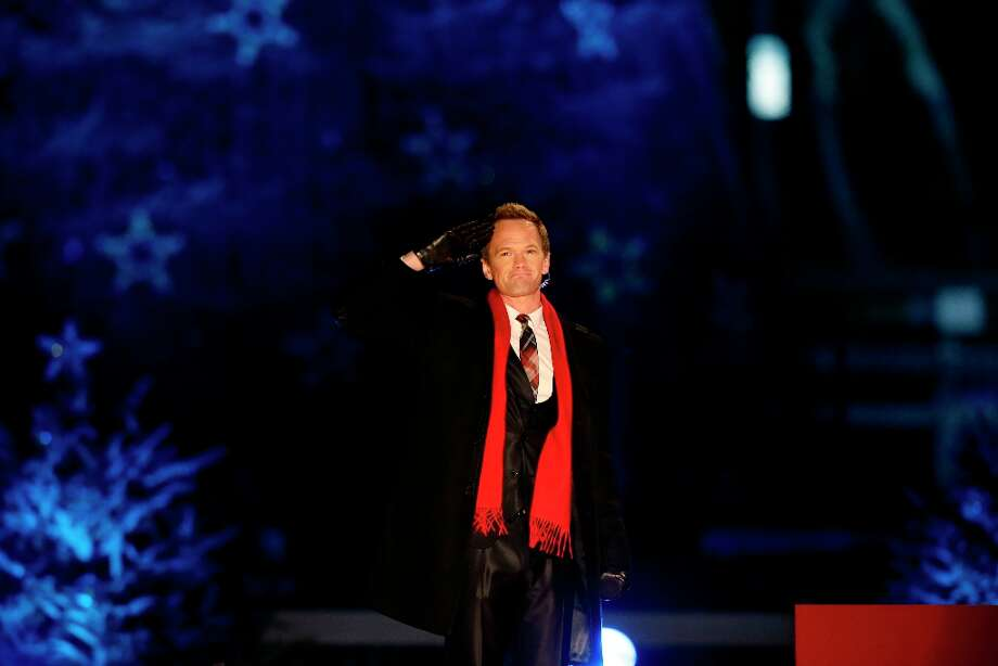 Host Neil Patrick Harris participates in the 90th annual National Christmas Tree Lighting ceremony on the Ellipse south of the White House, Thursday, Dec. 6, 2012 in Washington.  (Alex Brandon / AP Photo) Photo: Alex Brandon, Associated Press / AP