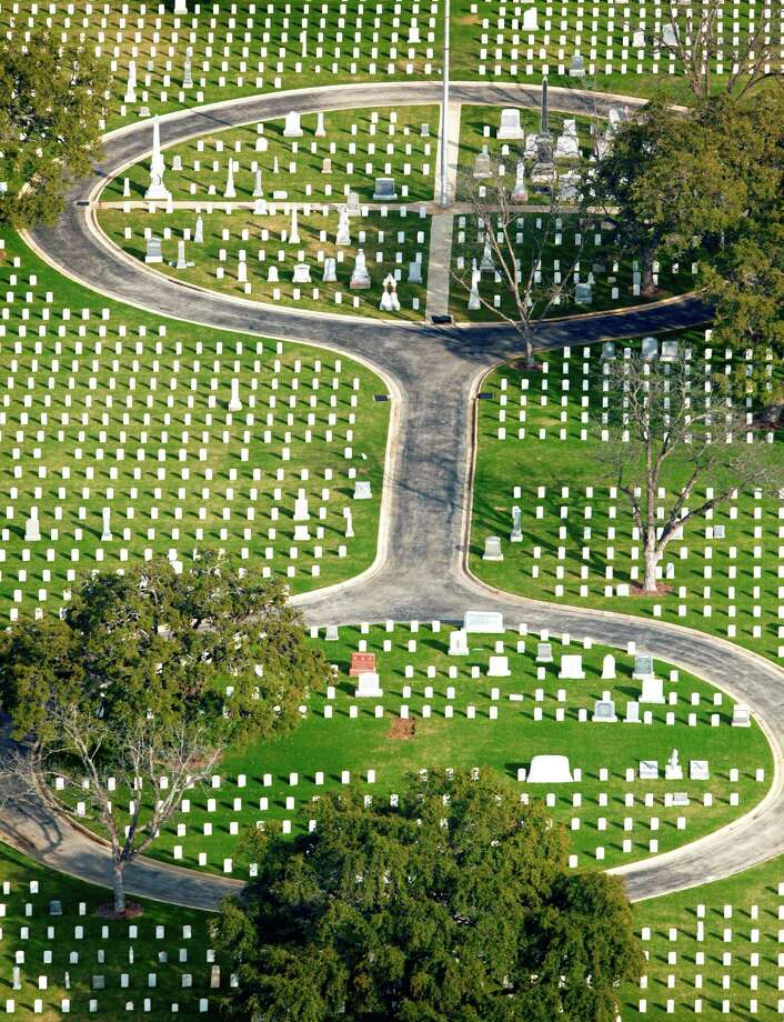 San Antonio National Cemetery, at 517 Paso Hondo St. on San Antonio's near-East Side, is seen in a Thursday Feb. 2, 2012 aerial photo. The cemetery, according to the Veterans Administration website, was established in 1867 and includes the remains of 16 Medal of Honor recipients, 281 Buffalo soldiers. Additonally 2nd Lt. George M. Kelly, for whom Kelly AFB was named, and Brig. Gen. John L. Bullis, for whom Camp Bullis was named, are also buried there among numerous other notable early San Antonio residents.