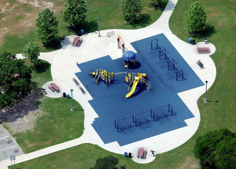 The playground at the Lion's Field Park and Lion's Field Adult and Senior Citizens Center is seen in this April 10, 2012 aerial photo. Photo: William Luther, San Antonio Express-News / © 2012 WILLIAM LUTHER