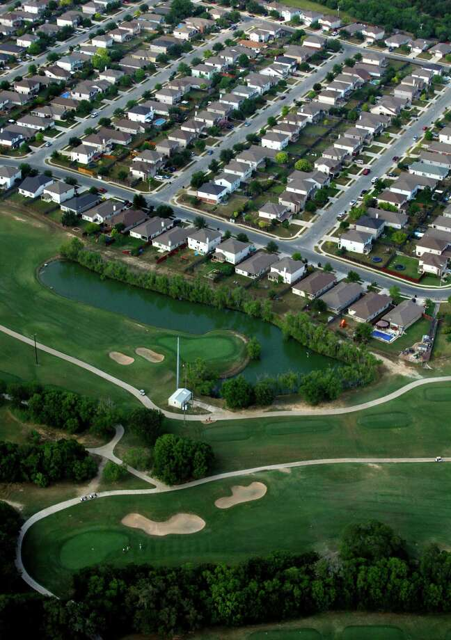 Homes from the Forest Creek subdivision in Selma are seen in this May 3, 2012 aerial photo. Photo: William Luther, San Antonio Express-News / © 2012 WILLIAM LUTHER