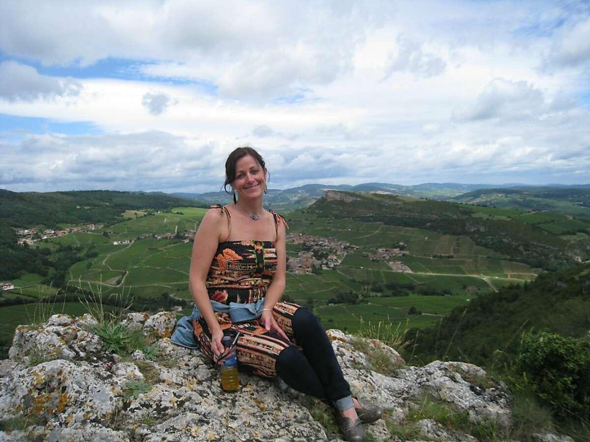 Nicole Heslip of San Anselmo on a recent trip to Burgundy, France.